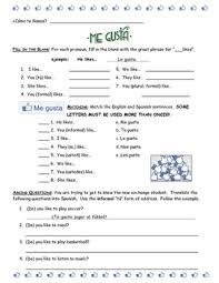spanish worksheet choosing