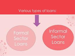Formal Credit And Informal Credit formal sector credit in india