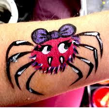 how to paint a cute halloween spider u2013 facepaint com