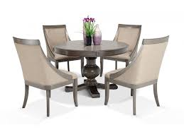 Gatsby Round 5 Piece Dining Set With Swoop Chairs Dining Room Sets