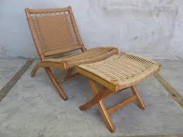 Ottoman Chair Hans Wegner Style Folding Chair And Ottoman Sold Items