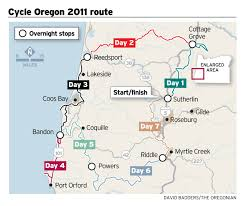 Map Of Oregon Coast by Cycle Oregon Which Starts Sunday Includes Popular Route Along