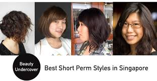 permed hairstyles for medium length hair perms for short hair in singapore