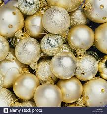 silver and gold baubles stock photo 16189422 alamy