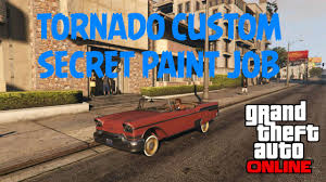 Custom Paint Color Secret Paint Color On The Tornado Custom Gta Online Youtube