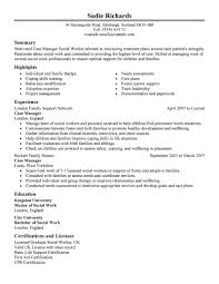 Summary Of Skills Resume Sample Best Case Manager Resume Example Livecareer
