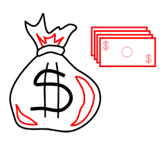 drawing cartoon money