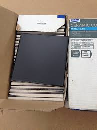 50 wickes black matte wall tiles 100mm x 100mm in ipswich
