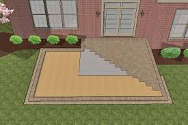 Large Pavers For Patio How To Install Larger Paver Patio Smaller Existing Concrete