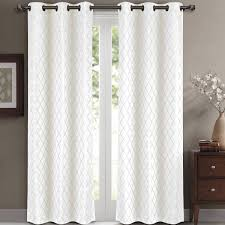 Insulated Thermal Curtains Willow Geometric Jacquard Thermal Insulated Blackout Curtain