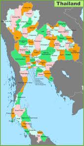 map of thailand thailand provinces map