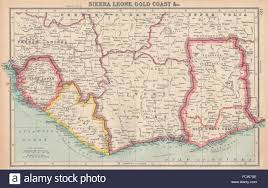 Map Of Sierra Leone West Africa Sierra Leone Gold Coast Colony Ivory Coast