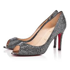 christian louboutin gold mirror spiked ankle strap platform heels