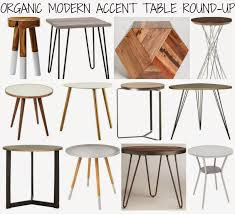 mid century modern accent table affordable accent table round up mid century meets organic modern