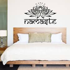 mandala lotus flower namaste wall stickers for yoga studio