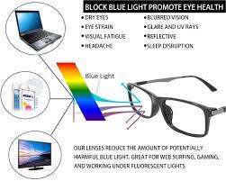 glasses that block fluorescent lights amazon com computer reading glasses 0 25 black blue light filter