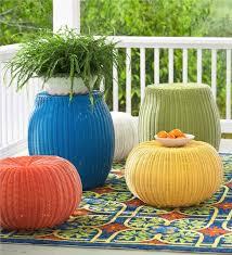 Rattan Pouf Ottoman Outdoor Pouf Ottoman Cushion Floor Pillow Intended For Idea 15