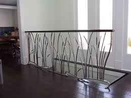 Interior Wood Railing Custom Cat Tail And Willow Interior Wrought Iron Railing By Iron