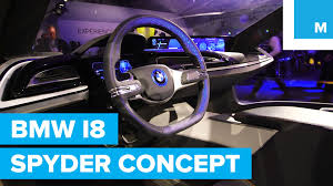 Bmw I8 Spyder - first look at bmw i8 spyder self driving concept car