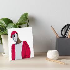 ski mask the slump god minimal design