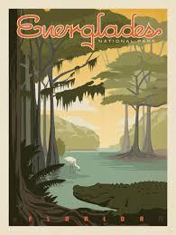 Everglades National Park Map Anderson Design Group U2013 American National Parks U2013 Everglades