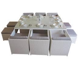 White Wicker Patio Furniture Sets by Lake Valencia 10 Seat Dining Set U2013 Urbani Furniture