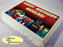 marvel cake toppers lego justice league cake search lego justice league