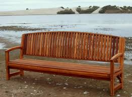 No Cushion Outdoor Furniture - redwood bench with contoured seating forever redwood