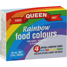 queen food colouring assorted food colours 4pk woolworths