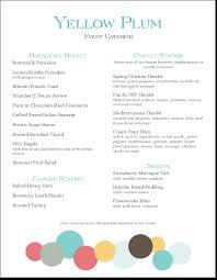 Sample Buffet Menus by Catering Menu Templates And Designs Musthavemenus