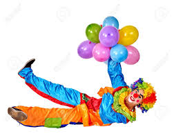 balloons clown happy birthday clown holding bunch of balloons clown lying on