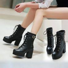 buy boots cosmetics india shop s boots leather heeled boots yesstyle