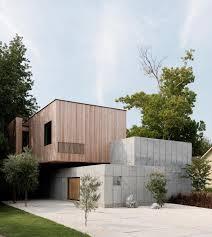 textured front facade modern box home the concrete box house by robertson design a carefully