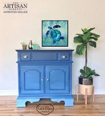 ombre dresser in shades of coastal blue general finishes design