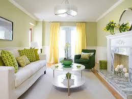 Butter Yellow Sofa Yellow And Green Living Room Contemporary Living Room