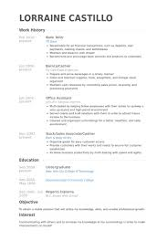 Resume Objective For A Bank Teller Download Resume For Bank Teller Haadyaooverbayresort Com