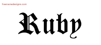 blackletter name designs ruby graphic free name