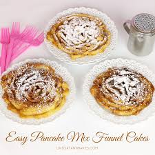 video easy pancake mix funnel cakes lindsay ann bakes