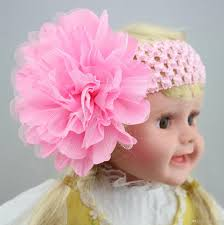 how to make baby flower headbands baby knitted headband large mesh folds fabric flower baby headband