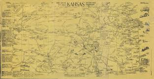 Kansas Road Map Kansas Early Routes Old Trails Historic Sites Landmarks Etc