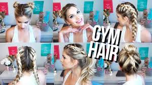 quick u0026 easy gym hairstyles youtube