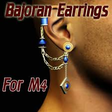 bajoran earring bajoran earrings for m4 poser sharecg