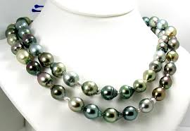 multi pearl necklace images 9x10mm 10 6x13 7mm multi color tahitian pearl necklace 14k white go jpg