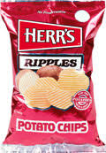 ripples chips herr s products ripples potato chips