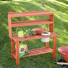 wood country master gardener u0027s cedar wood potting bench hayneedle
