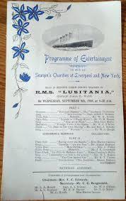 Titanic Second Class Menu by Memorabilia