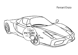 ferrari sketch super car ferrari enzo coloring page cool car printable free