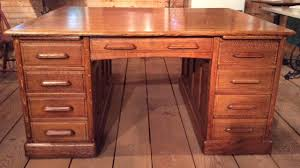 Desks With Drawers On Both Sides Quarter Sawn Oak Partners Desk