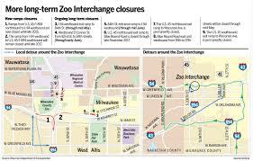 Uw Milwaukee Map Map Zoo Interchange Closures