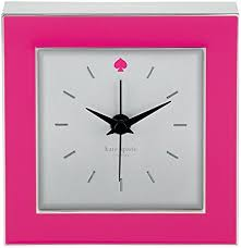 kate spade desk clock amazon com kate spade new york cross pointe pink clock home kitchen